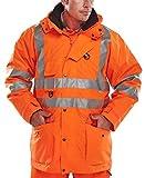 B-Seen Elsener 7 in 1 Hi Viz Jacket | Orange | 4XL