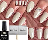 BLUESKY 80533 cityscrape Elfenbein Cream Light Beige Nagellack-Gel UV-LED-Soak Off 10 ml plus 2 homebeautyforyou Shine Tücher