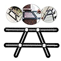 Yooap Angleizer Template Ruler, Aluminum Universal Multi-Angle Measuring Ruler, Any-Angle Template Tool, Measures Angles and Forms for Builder, Carpenter, Craftsman, Architects, Roofers, Home DIYers