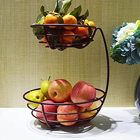 Der Korb Mit Obst Obst Obstschale Zwei Europäische Kreative Wohnzimmer Küchengeräte Sind Obstschale Warenkorb Schicht, Bronze