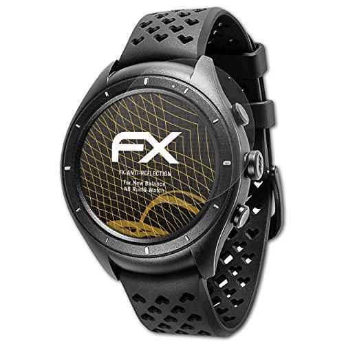 atFoliX Panzerfolie kompatibel mit New Balance NB RunIQ Watch Schutzfolie, entspiegelnde und stoßdämpfende FX Folie (3X)