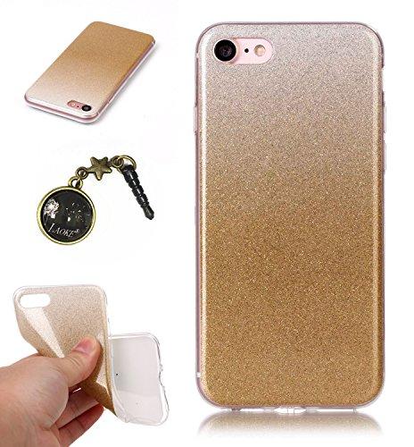 TPU Luxus Glitzer Case Cover iPhone 7 (4.7 Zoll) Hülle mit Kratzfeste Stoßdämpfende Strass Shining Sparkle Schutzhülle Ultra Thin Light Kristall Schutz Matt Schale Bumper für Apple iPhone 7 (4.7 Zoll) 3