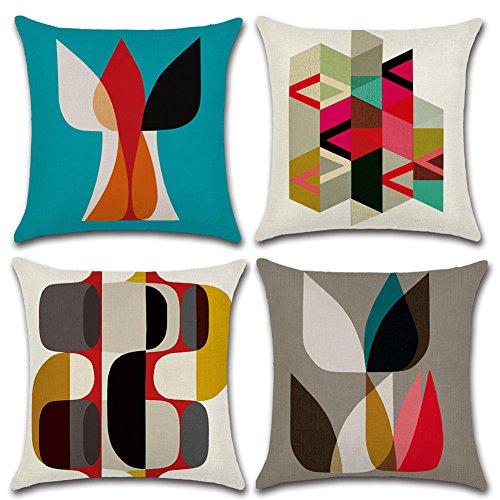 4 pezzo modelli moderni di geometria modello cuscino coperchio cuscino 45x45cm 18x18 pollici