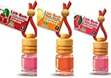 3 elegante Duftflakons für Auto und Wohnung Bestseller Mix: 1 x Cherry - Kirsche, 1 x Vanilla - Vanille, 1 x Watermelon - Wassermelone