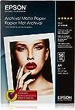 Epson Archival Matte Paper, A4, 210 x 297mm, 192 g/m2, 50 Sheets