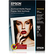 Epson Archival Matte Paper, A4, 210 x 297 mm, 192 g/m2, 50 hojas