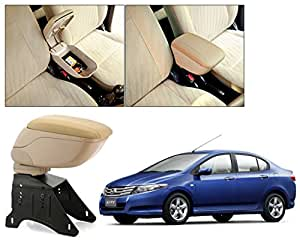 Auto Pearl - Premium Quality Beige Armrest Console Box For - Honda City Ivtec Old