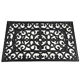 Siena Garden Fußmatte Welcome, Willkommen, Anti-Rutsch-Effekt, schwarz, 45x75cm, 548179