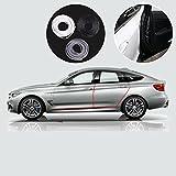 Protección para puertas del coche, Switchali 16FT / 5M Moldura de moldeo en negroTira de goma Puerta del auto Rasguño  Protector de borde protector (Negro)