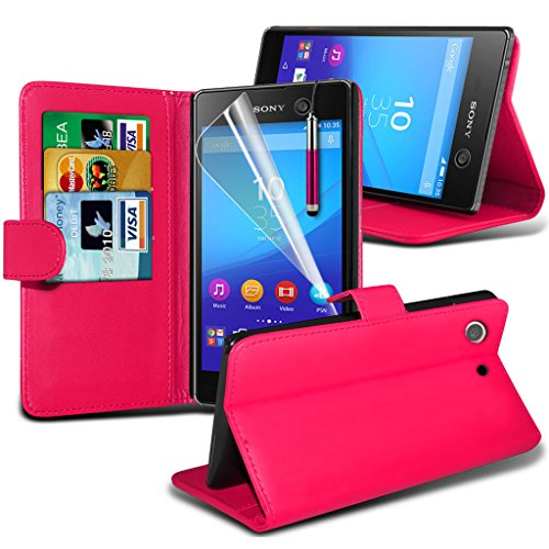 Fall für <b>      Sony Xperia M5 hülle     </b>     Case Universal Car Phone Halter Halterung Armaturenbrett und Windschutzscheibe für iPhone y i -Tronixs Rosa Wallet