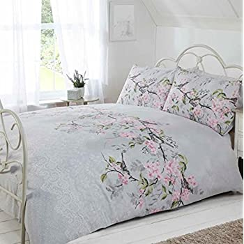 just contempo blossom bird duvet cover set double grey
