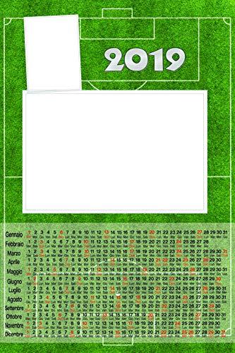 Calendario plastificato a3 personalizzato 2 foto 2019 parete campo calcio