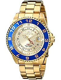 Invicta Mens Quartz Watch, Analogue Classic Display and Stainless Steel Strap 17153