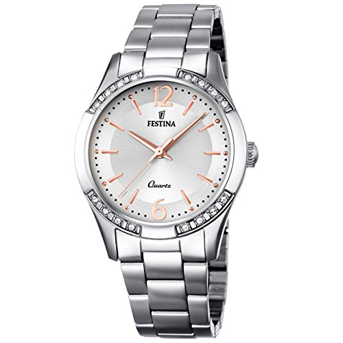 Festina F16913/1 Ladies Watch Stainless Steel 5 Bar Analog Silver Watch