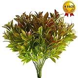Nahuaa 4 Stück Künstliche Pflanzen Draußen Gefälschte Grün Strauch Künstlichen Kunststoff Sträucher Tabelle Blumenarrangements Zuhause Küche Sprungfeder Deko