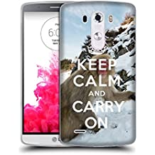 Super Galaxy Coque de Protection TPU Silicone Case pour // Q01015493 keep calm and carry on 740 // LG G3 VS985