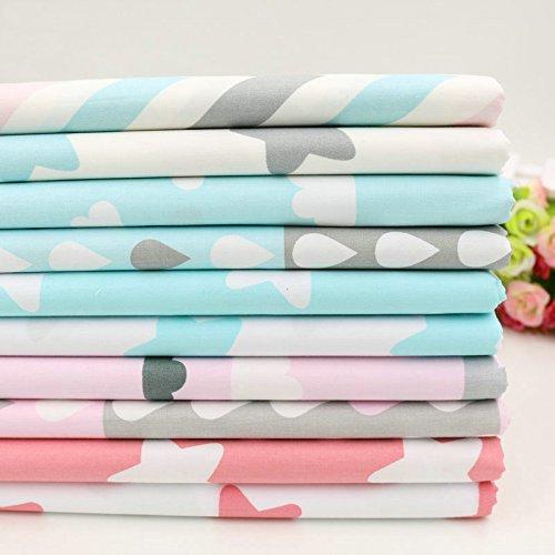 10toiles en coton 40cmx50cm avec motifs d'étoile, de zig zag, pour couture, pour berceau, lit d'enfant, oreillers, l