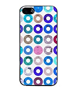 PrintVisa Designer Back Case Cover for Apple iPhone 5 (imperial blue red green shades)
