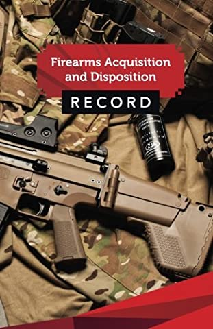 "Firearms Acquisition and Disposition Record Book Journal: 50 Pages, 5.5"" x 8.5"" Russian Swat Camo"