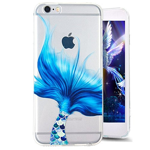 Paillette Coque pour iPhone 6S,iPhone 6 Bling Liquide Coque,iPhone 6 Bling Glitter Coque Etui Dual Layer Plastic Coque Liquide Cases Covers,EMAXELERS iPhone 6S Case Bling Glitter Flowing Etui,iPhone 6 Ocean Liquid 7