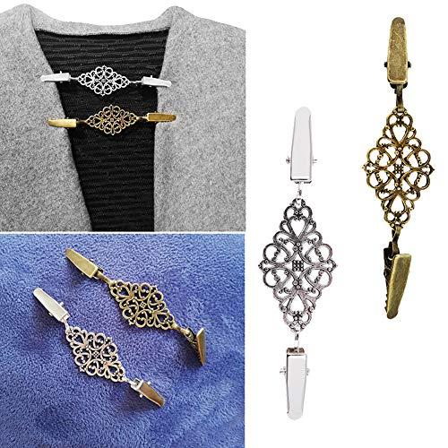 Kafigc8 perno di chiusura a scatto con cinturino in scialle a fiori sciancrato con motivo floreale vintage argento antico