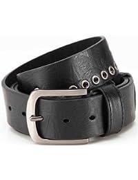 Designer-Gürtel Ledergürtel mit PU, Jeansgürtel mit kleinen Lochnieten, Breite 3,8 cm, unisex, leicht kürzbar, Belt shortable