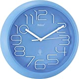 Mebus 52832 Funk Wanduhr 300mm x 45mm Blau