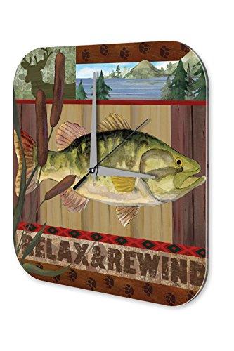 Wanduhr Nostalgie Motiv Entspannen Fisch Natur Acryl Wand Uhr - Fisch-wand-uhr