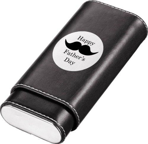 (Visol Produkte Father 's Day Schwarz Leder schlafgest Zigarre Fall, Schnurrbart)