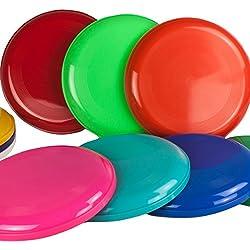 10 Frisbee Disc / Frisbees / Discos para lanzar en colores mezclados; ¡No son aptos como frisbees para perros!