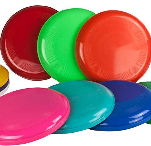 SchwabMarken Frisbee Disc/Frisbees/Wurfscheiben farblich gemischt 10 Frisbee bunt gemsicht - Nicht geeignet als Hundefrisbee!!