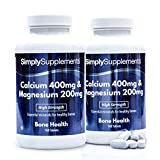 Calcio 400 mg e Magnesio 200 mg - 360 compresse - Adatto ai vegani - 6 mesi di trattamento - SimplySupplements