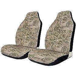 Sobre-mesa Autositzbezüge Grunge Nostalgic Pins Länder Vintage Protector Cushion Universal Bucket Sitzbezug Passend für die meisten Autos