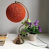 XUANLAN Takraw Bindfäden Gartenlampe, dimmbare Nachttischlampe LED moderne, dekoratives Nachtlicht Schlafzimmer Studie, 43 * 23cm ( Color : Orange )