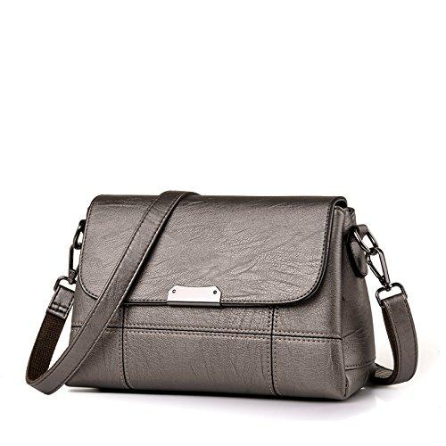 LiZhen di mezza età pacchetto femmina madre custodia nuovi pacchetti per autunno e inverno, elegante e piccolo sacchetto singolo borse a tracolla messenger bag, vino rosso (soft) Bronzo (soft)