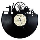 London orologio in vinile (Londra) idea regalo souvenir colore nero originale Vinyluse