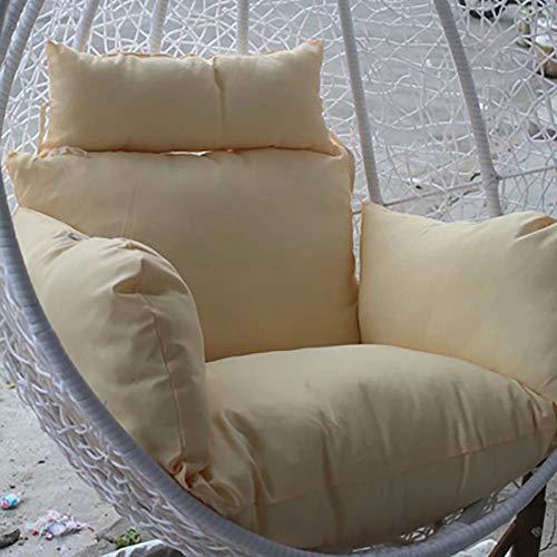 MSM Rattan Stuhl Sitzkissen, Verdicken sie Wiege Korbstuhl Komfort Stuhl-pad Waschbar, Nicht enthalten sind EIN hängesessel-Creme Farben 60x50x30cm