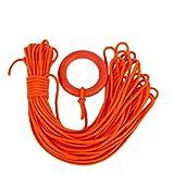 Qiyun Set da immersione,Snorkeling Rope,30M Diametro 8MM Linea di galleggiamento con corda con anello a mano