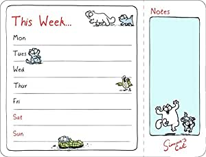 "Simon's Cat Tear Off Planners - Ricambio settimanale per agenda ""This Week"" (C15088)"