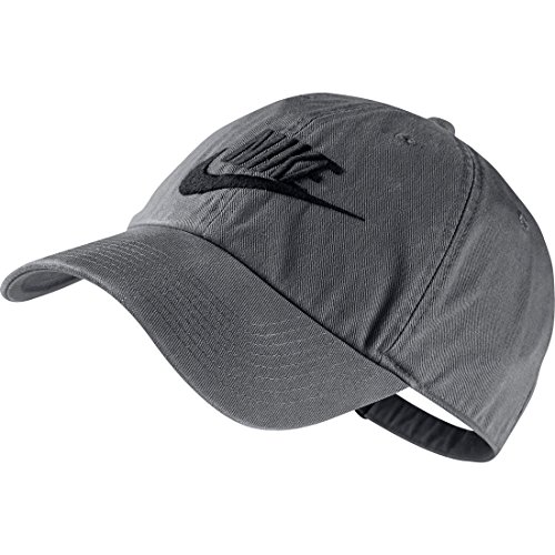 Nike Kappe Futura Washed H86, Dark Grey/Black, One Size, 626305-021