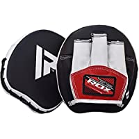 RDX Boxing Pads Mini Focus Mitts MMA Muay Thai Micro Hook and Jab Curved Kickboxing Strike Target Smartie Hand Pads Training Martial Arts Leather Punching Shield