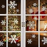 mixigoo Natale Vetrofanie, Adesivi Murali Fiocco di Neve Rimovibile Fai da Te Finestra Decorazione Vetrina Adesivi per Natale Capodanno