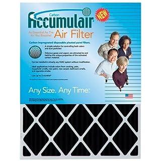 Accumulair Carbon 16x24x1 (15.5x23.5) Odor eliminating Air Filter/Furnace Filter