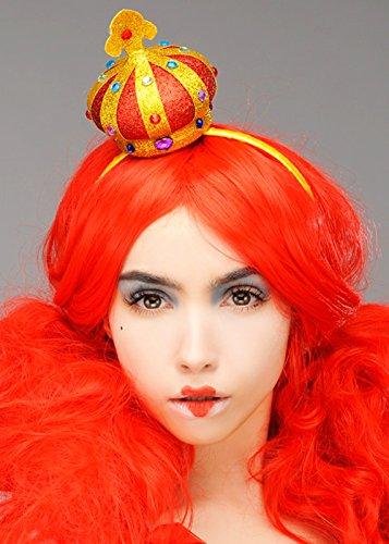 Königin der Herzen Kopfschmuck Mini Crown auf ()