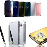 SVS EXCLUSIV SPIEGEL Samsung Galaxy S7 Cover Flip Case Tasche Handy Schutz Hülle Cover Case Schale (S7, Rose Gold)