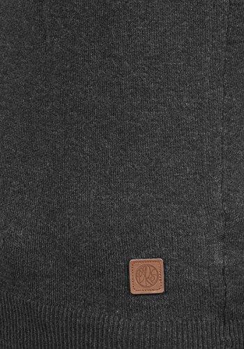 DESIRES Edda Damen Strickpullover Feinstrick mit Rundhals-Ausschnitt aus hochwertiger Materialqualität Dark Grey Melange (8288)