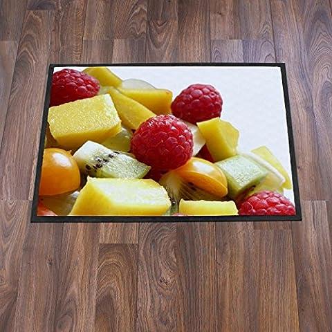 banjado–Diseño–Felpudo (70x 50cm Alfombrilla Maletero de puerta puerta–Felpudo con diseño de frutas Mix