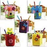 Senoow Kreative DIY Craft Kit Handmade Bleistift Halter Kinder Craft Spielzeug Lernspielzeug