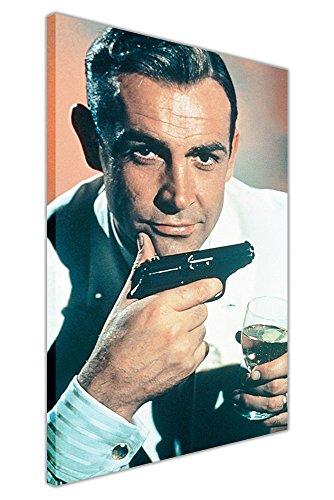 James Bond Martini und Gun gerahmt Drucke auf Leinwand, Bilder Home Deco Film Poster, canvas holz, 04- 30