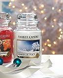 Yankee Candle 1275351E Season of Peace Duftkerze im Glas, weiß, 9.8 x 9.8 x 17.5 cm